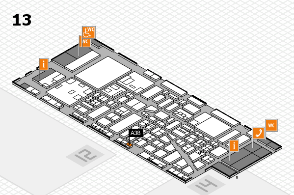 boot 2018 hall map (Hall 13): stand A38