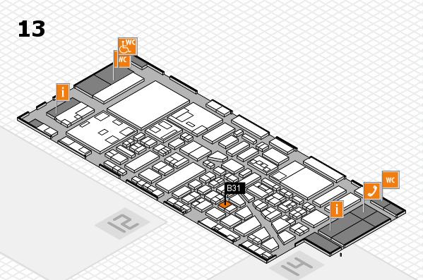 boot 2018 hall map (Hall 13): stand B31
