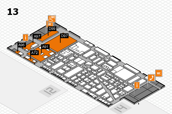 boot 2018 hall map (Hall 13): stand A72, stand D99