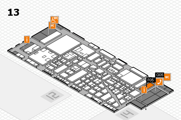 boot 2018 hall map (Hall 13): stand F05, stand G05