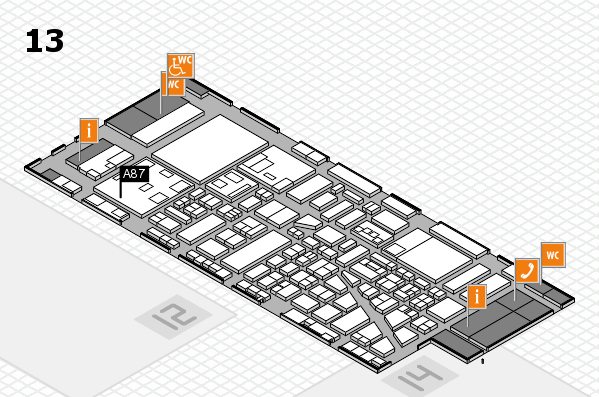 boot 2018 hall map (Hall 13): stand A87