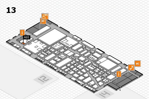 boot 2018 hall map (Hall 13): stand A93