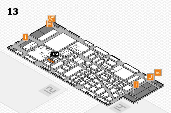 boot 2018 hall map (Hall 13): stand B74