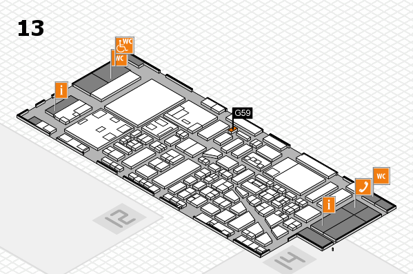 boot 2018 hall map (Hall 13): stand G61