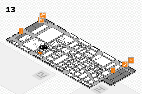 boot 2018 hall map (Hall 13): stand A67
