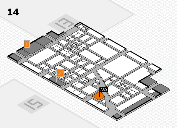 boot 2018 hall map (Hall 14): stand A60
