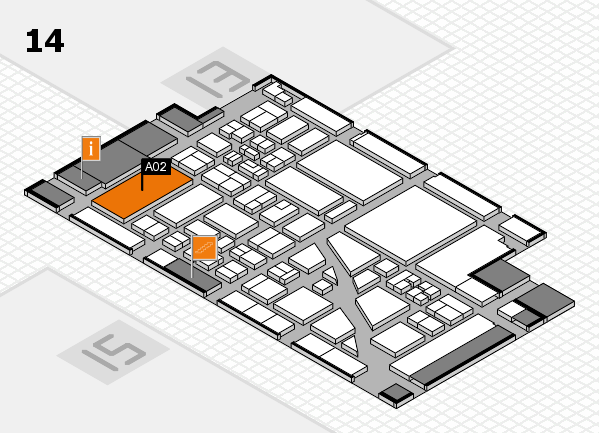 boot 2018 hall map (Hall 14): stand A02