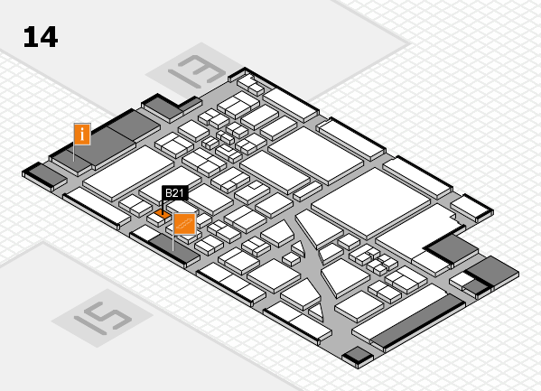 boot 2018 hall map (Hall 14): stand B21