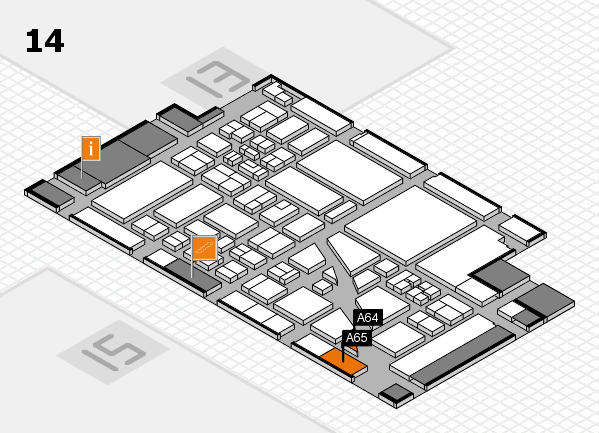 boot 2018 hall map (Hall 14): stand A64, stand A65
