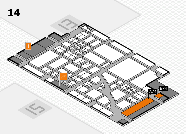 boot 2018 Hallenplan (Halle 14): Stand A74, Stand E74