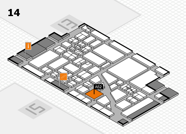 boot 2018 hall map (Hall 14): stand A52