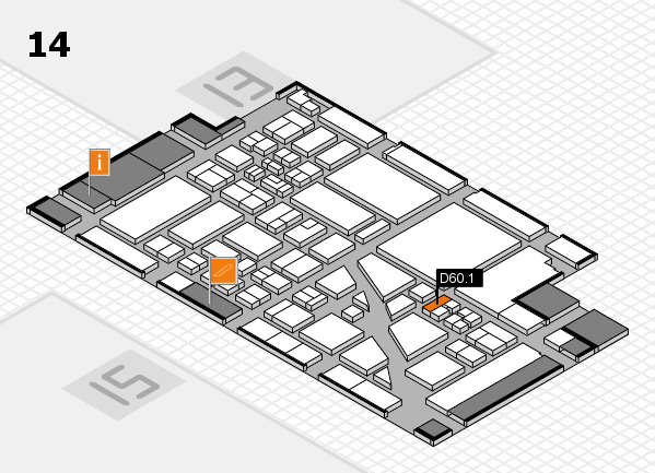 boot 2018 hall map (Hall 14): stand D60.1