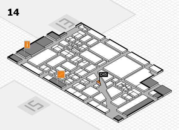 boot 2018 hall map (Hall 14): stand D45