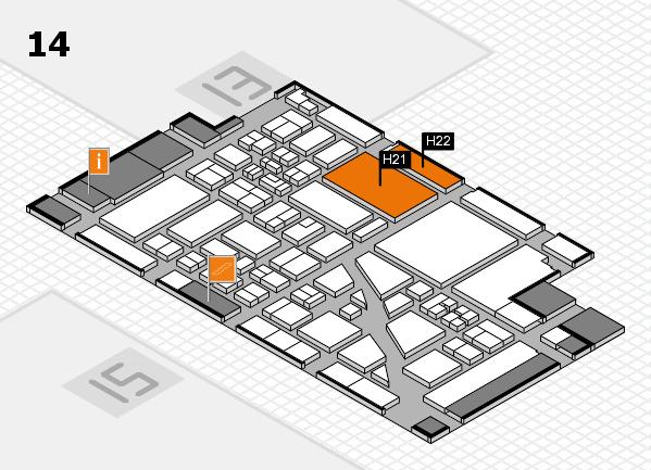 boot 2018 hall map (Hall 14): stand H21, stand H22
