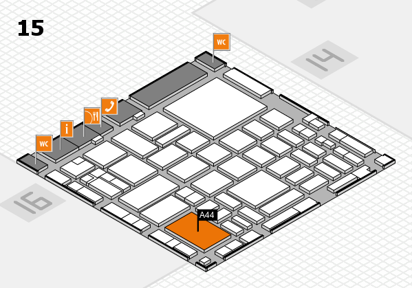 boot 2018 hall map (Hall 15): stand A44