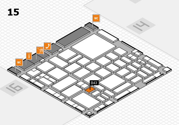 boot 2018 hall map (Hall 15): stand B43