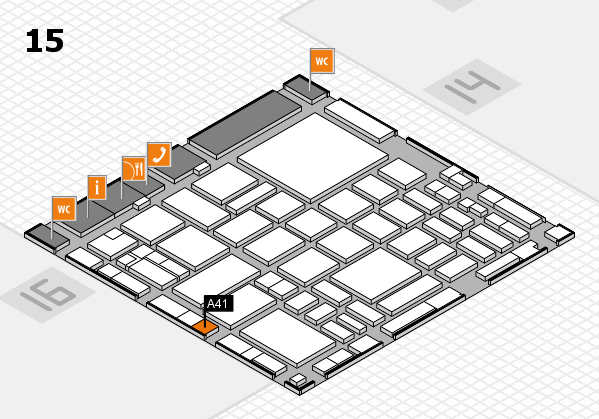boot 2018 hall map (Hall 15): stand A41