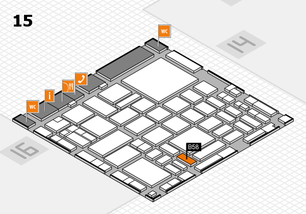 boot 2018 hall map (Hall 15): stand B58
