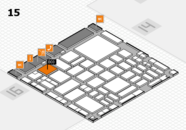 boot 2018 hall map (Hall 15): stand B03