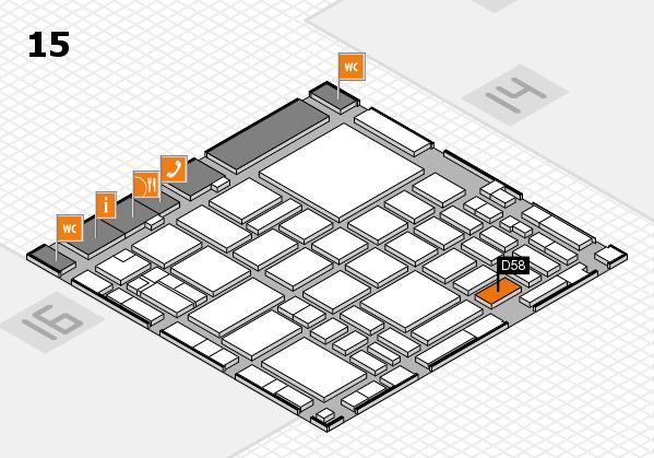 boot 2018 hall map (Hall 15): stand D58