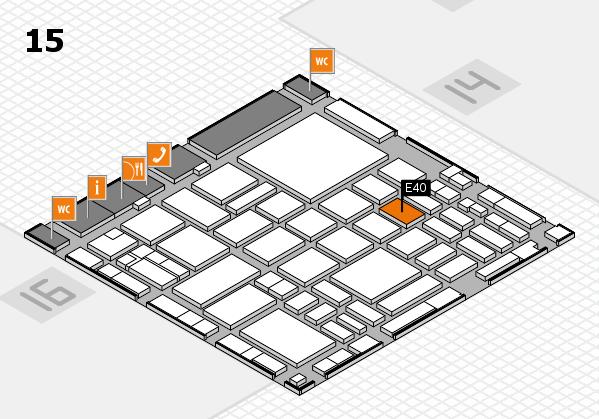 boot 2018 hall map (Hall 15): stand E40