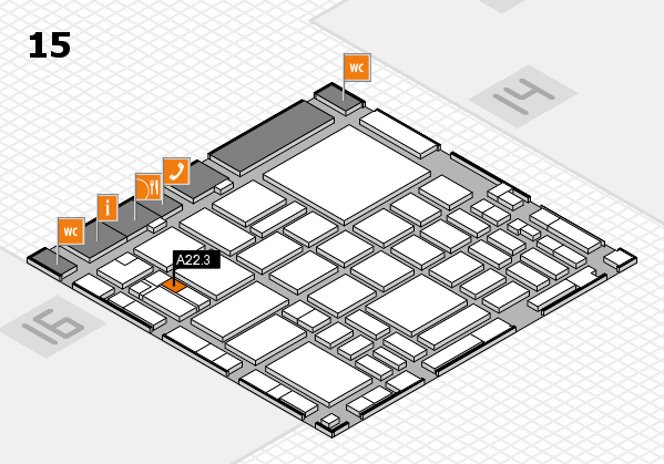 boot 2018 hall map (Hall 15): stand A22.3