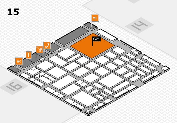 boot 2018 hall map (Hall 15): stand G21