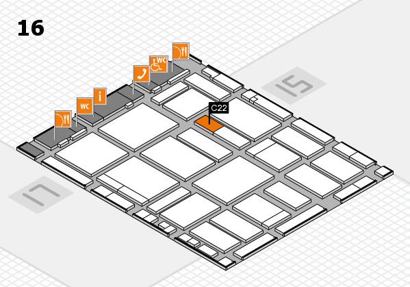 boot 2018 hall map (Hall 16): stand C22