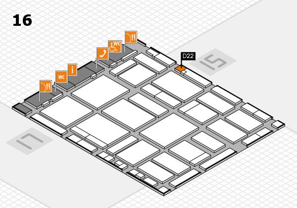 boot 2018 hall map (Hall 16): stand D22