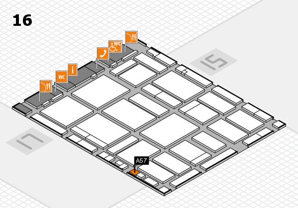 boot 2018 hall map (Hall 16): stand A57