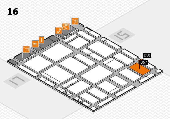 boot 2018 hall map (Hall 16): stand D57, stand D58