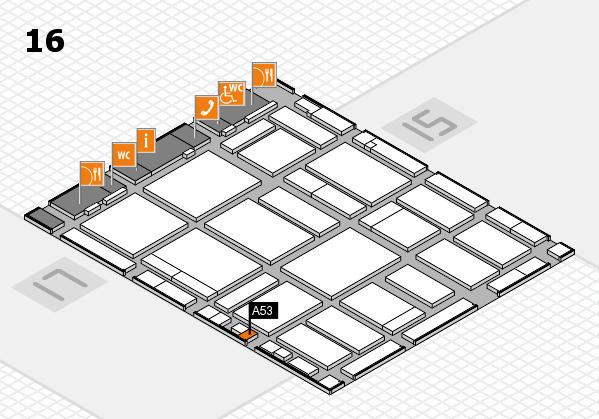 boot 2018 hall map (Hall 16): stand A53