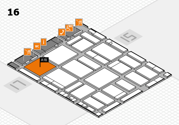 boot 2018 hall map (Hall 16): stand A18