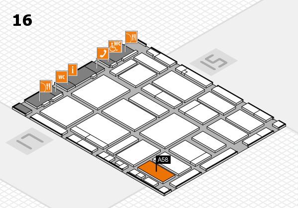 boot 2018 hall map (Hall 16): stand A58