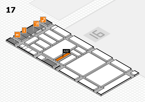 boot 2018 hall map (Hall 17): stand A32