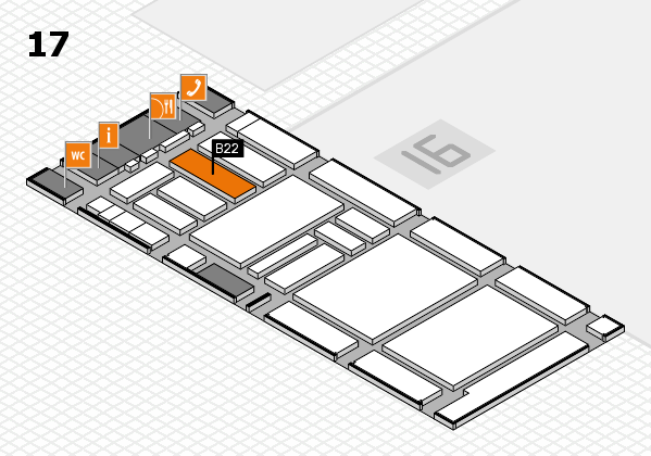 boot 2018 hall map (Hall 17): stand B22