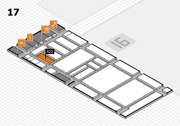 boot 2018 hall map (Hall 17): stand A22
