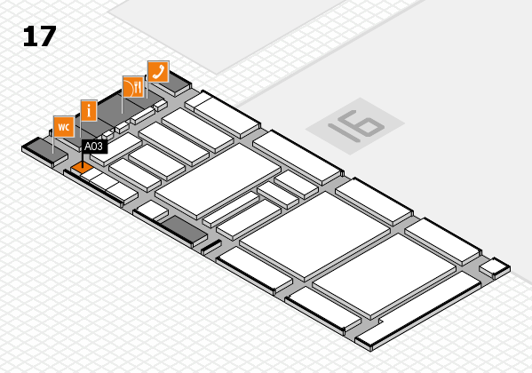 boot 2018 hall map (Hall 17): stand A03