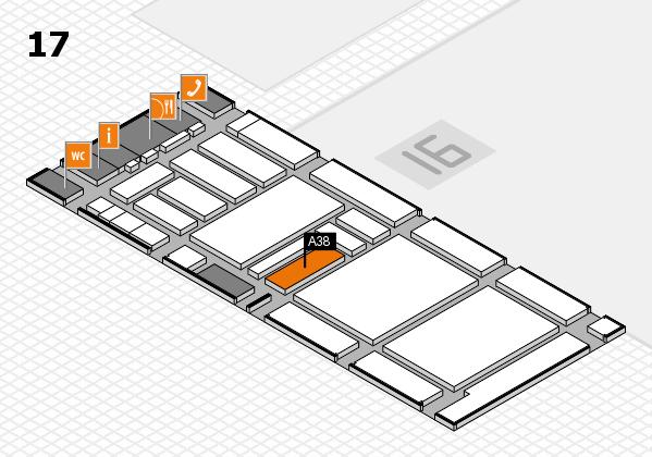 boot 2018 hall map (Hall 17): stand A38