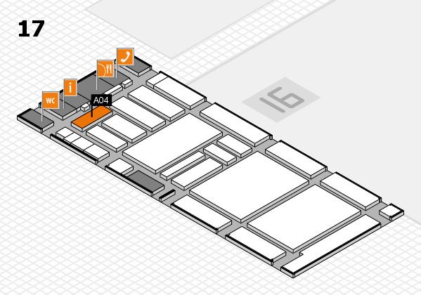 boot 2018 hall map (Hall 17): stand A04