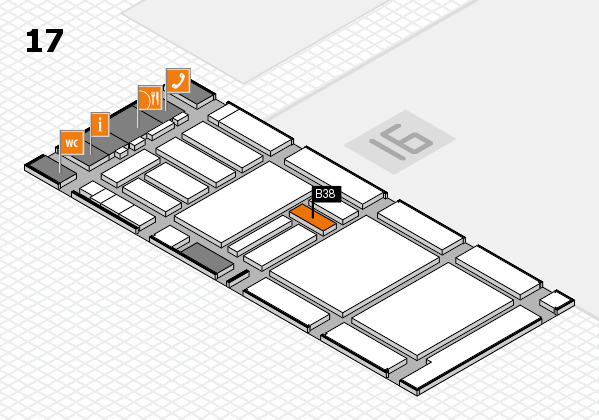 boot 2018 hall map (Hall 17): stand B38