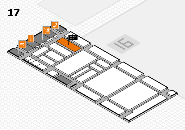 boot 2018 hall map (Hall 17): stand C21