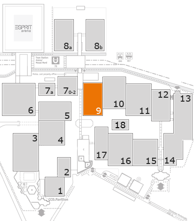 boot 2017 fairground map: Hall 9