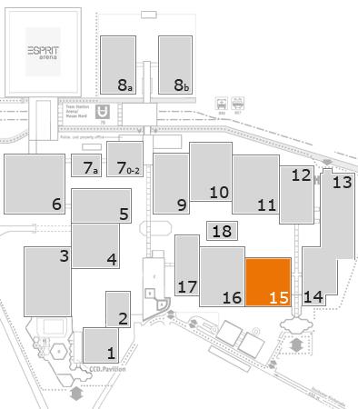 boot 2018 Geländeplan: Halle 15