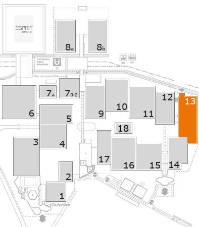 boot 2017 Geländeplan: Halle 13