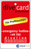 dive card professional