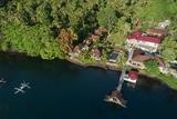 Aerial shot of Solitude Lembeh Resort