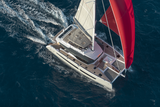 Alegria 67 under sail