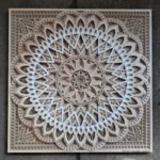Square Mandala Beige #1