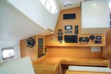 Interior custom-built sailing yacht